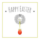 Easter wreath decorative Stock Photo