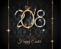 2018 Easter seasonal greetings card Stock Image