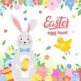 Easter seasons greetings card royalty free illustration