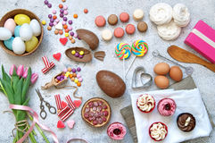 Easter selection of sweet foods Stock Image