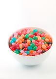 Easter series - candy 8. Jelly beans in a white bowl Royalty Free Stock Photo