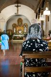 Easter Service. In the village of Nahuizalco in El Salvador stock photos