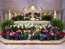 Easter Service Alter Stock Image