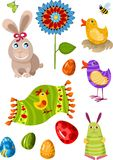 Easter set stock illustration