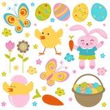 Easter set Stock Photos