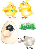 Easter set Royalty Free Stock Photo