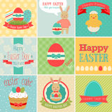 Easter set. Greeting cards. Vector illustration Royalty Free Stock Images