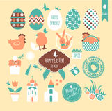 Easter set background. Stock Photography