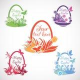 Easter set background. Royalty Free Stock Photo