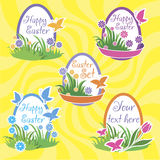 Easter set background. Royalty Free Stock Image