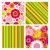 Easter set of backgrounds. Stock Photos