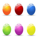 Easter set colorful eggs  Stock Photography