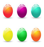 Easter set colorful eggs  Stock Image