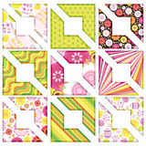 Easter set of corner, design elements. Royalty Free Stock Photos