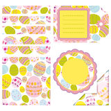 Easter set of design elements Stock Images