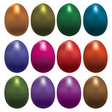 Easter set eggs Stock Photos