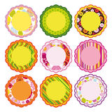 Easter set of Frame, design elements. Stock Photo