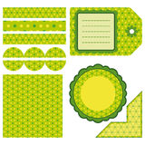 Easter set of green design elements. An illustration for your design project Royalty Free Stock Photo