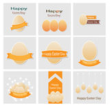 Easter set greeting cards vector Royalty Free Stock Photography