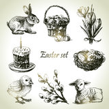 Easter set. Hand drawn illustrations Royalty Free Stock Photos