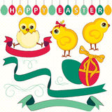Easter set, ribbons, labels. Royalty Free Stock Photos
