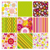 Easter set of seamless backgrounds. stock photos
