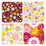 Easter set of seamless backgrounds Royalty Free Stock Photo