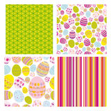 Easter set of seamless backgrounds royalty free stock photos
