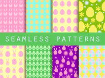 Easter. Set of seamless patterns. Easter Bunny and Easter egg. T Royalty Free Stock Images