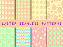 Easter. Set of seamless patterns. Easter Bunny and Easter egg. T Stock Images