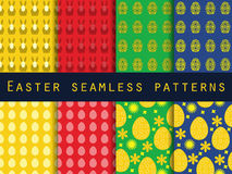 Easter. Set of seamless patterns. Easter Bunny and Easter egg. Royalty Free Stock Image