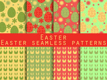 Easter. Set of seamless patterns. Easter Bunny and Easter egg. Stock Photography