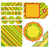 Easter set of stripe design elements. An illustration for your design project Royalty Free Stock Photos