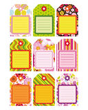 Easter set of Tag, Label, design elements. royalty free stock photo