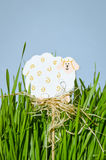 Easter sheep decoration Stock Photo