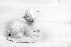 Easter sheep figure. White sheep figure on a white background stock images
