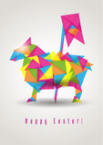 Easter sheep geometric vector Stock Photos