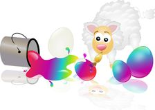 Easter sheep Royalty Free Stock Image