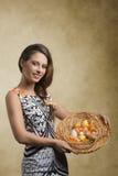 Easter shoot of happy girl Stock Image