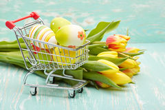 Easter Shopping. Royalty Free Stock Image