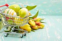 Easter shopping. Stock Photo