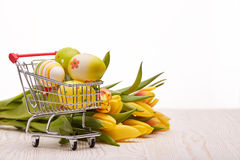 Easter shopping. Royalty Free Stock Photos