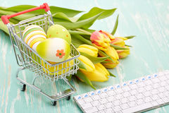 Easter shopping. Royalty Free Stock Images