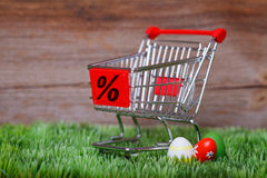 Easter shopping Stock Photography