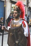 Easter in Sicily, Holy Friday - Centurione leads the Procession - Italy Stock Photography