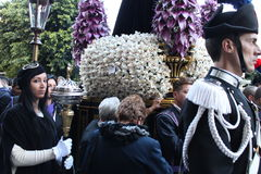 Easter in Sicily, Holy Friday - Our Lady in Procession - Italy Stock Image