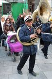 Easter in Sicily, Holy Friday - Our Lady in Procession - Sousaphone player - Italy Royalty Free Stock Photos
