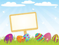 Easter_sign_ Royalty Free Stock Photos