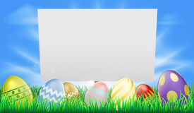 Easter sign Stock Images