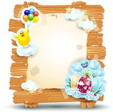 Easter signboard  on white, vector eps10 Stock Photo